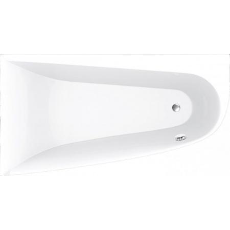 Vayer Boomerang Wanna asymetryczna 180x100 cm lewa, biała 180.100.045.1-2.1.0.0