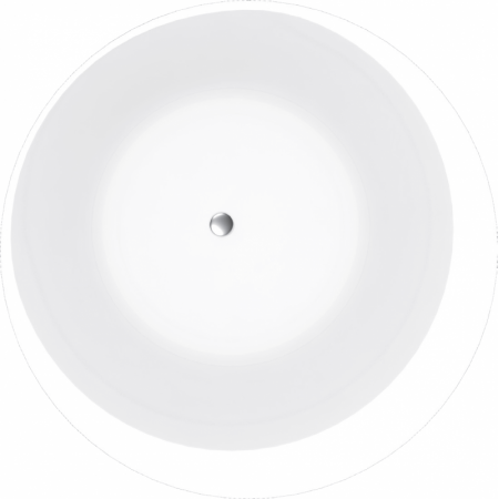Vayer Boomerang Wanna wolnostojąca okrągła 160 cm, biała 160.160.045.1-5.0.3.0