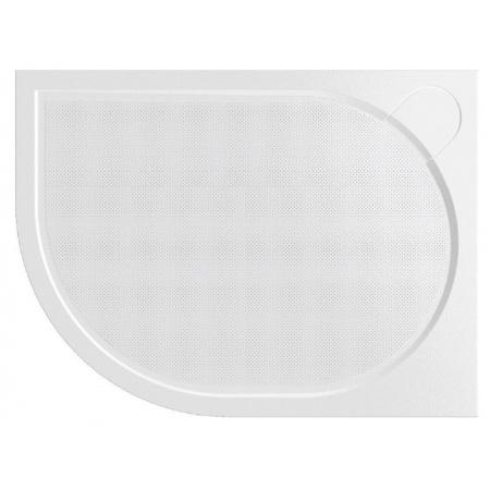 Vayer Citizen Virgo Brodzik półokrągły asymetryczny 100x80x3 cm konglomeratowy prawy, biały 100.080.001.2-2.2.0.0.0