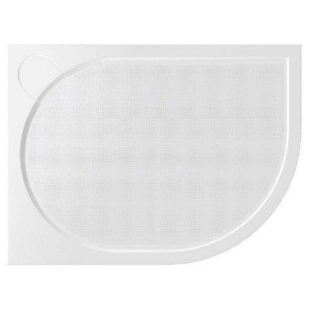 Vayer Citizen Virgo Brodzik półokrągły asymetryczny 120x80x3 cm konglomeratowy lewy, biały 120.080.001.2-2.1.0.0.0