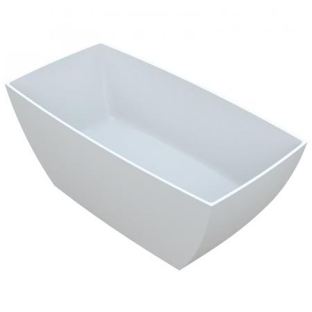 Vayer Gemini Wanna wolnostojąca 146,2x73,9 cm konglomeratowa, biała 146.073.057.1-7.0.3.0.0