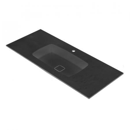 Vayer Leo-K Umywalka wpuszczana w blat 300x50,5 cm czarna 300.050.012.3-1.0.1.1.0