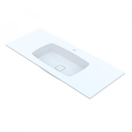Vayer Leo Umywalka wpuszczana w blat 270x50,5 cm biała 270.050.012.3-1.0.1.1.0
