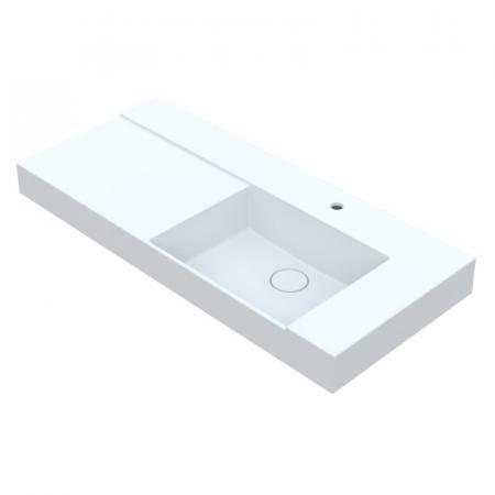 Vayer Libra Umywalka nablatowa 100,5x53,5 cm lewa biała 100.053.015.3-1.1.1.1.0