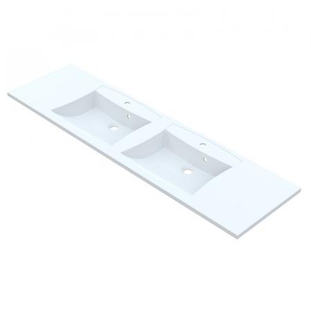 Vayer Norma-D Umywalka wpuszczana w blat podwójna 191,2x50 cm biała 191.050.011.3-1.0.1.2.1