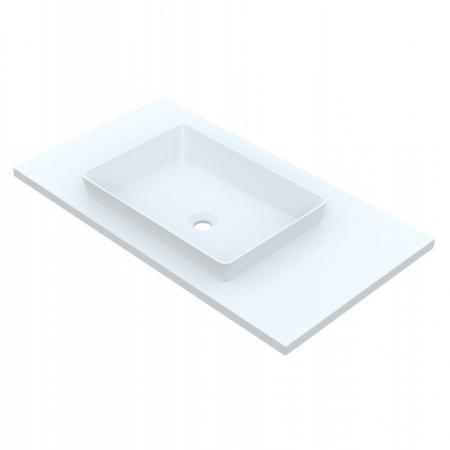 Vayer Octans-D Umywalka wpuszczana w blat 141,2x50 cm biała 141.050.010.8-1.0.1.0.0