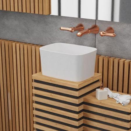 Vayer Volans Umywalka nablatowa wysoka 45x33 cm biała 045.033.012.3-4.0.1.0.0.01