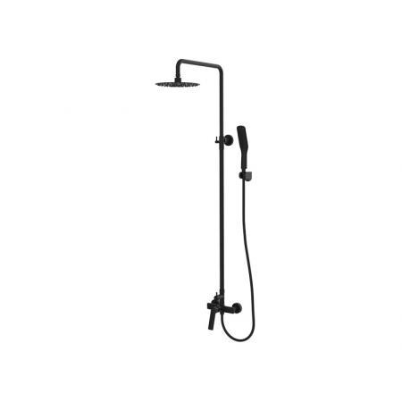 Vedo Desso Nero Zestaw prysznicowy ścienny z deszczownicą, czarny mat VBD4007CZ