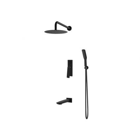 Vedo Desso Nero Zestaw prysznicowy podtynkowy z deszczownicą, czarny mat VBD4231CZ/25