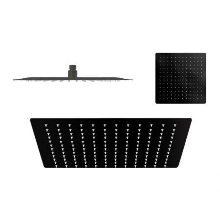 Vedo Ultra Slim Deszczownica kwadratowa 25x25 cm czarny mat VSN2250CZ