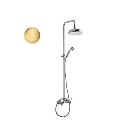 Vedo Etros Zestaw prysznicowy ścienny z deszczownicą, brąz antyczny 15171BR