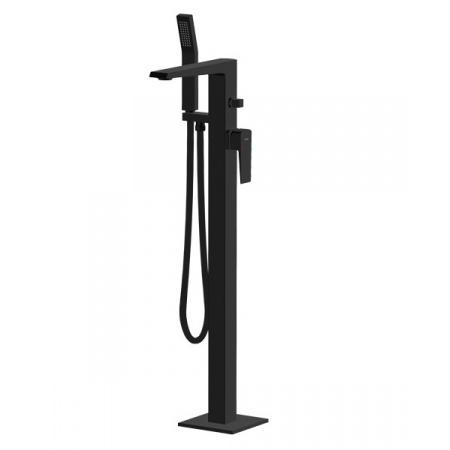 Vedo Sette Nero Jednouchwytowa bateria wannowa wolnostojąca z zestawem prysznicowym, czarny mat VBS7008CZ