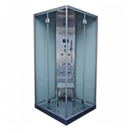 Victory Spa Style Collection Karl Kabina parowa 100x100x209 cm z systemem 2 biała RAL 9016 OSC.C50.9016.02.3