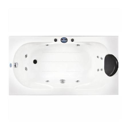 Victory Spa Vivera Jersey Wanna prostokątna 160x75x66 cm z systemem 2 Water Massage, biała OOV.040.910.02.1