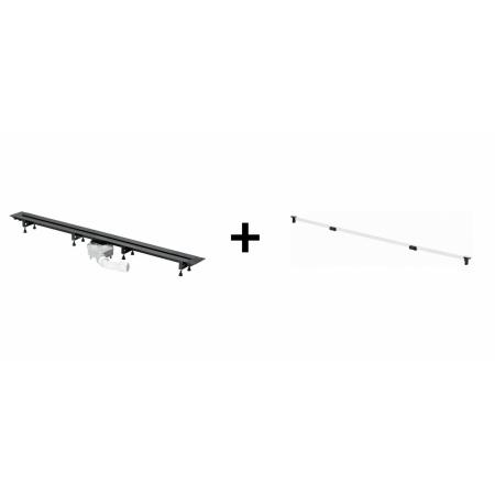 Viega Advantix Vario Zestaw odpływ liniowy o regulowanej długości 30-120 cm z rusztem wykończeniowym, wersja remontowa, biały 711887+4966.10 / 721671