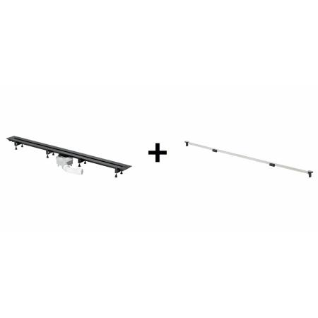 Viega Advantix Vario Zestaw odpływ liniowy o regulowanej długości 30-120 cm z rusztem wykończeniowym, wersja remontowa, błyszczący 686291+4966.10 / 721671