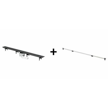 Viega Advantix Vario Zestaw odpływ liniowy o regulowanej długości 30-120 cm z rusztem wykończeniowym, wersja remontowa, matowy 686284+4966.10 / 721671