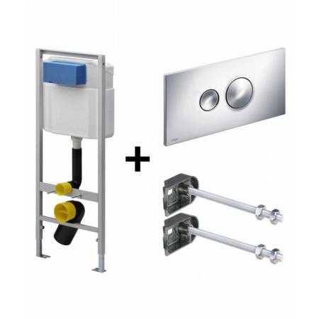 Viega Eco Standard 3w1 Stelaż podtynkowy do WC z przyciskiem Visign for Style 10 i mocowaniem, chrom 713386