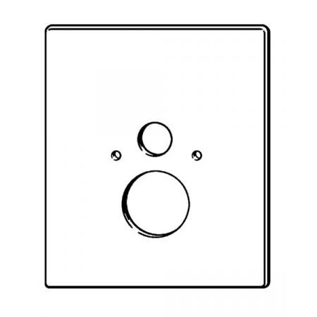 Viega Prevista Dry Płytka maskująca do WC, biały 8570.39 / 775 841