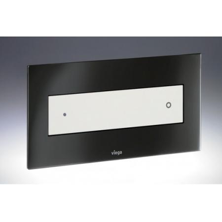 Viega Visign for Style 12 Płytka uruchamiająca do WC, szkło barwione czarne/przycisk biały 8332.1 / 690 625
