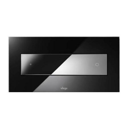 Viega Visign for Style 12 Płytka uruchamiająca do WC, szkło barwione czarne/przycisk chrom 8332.1 / 690 632