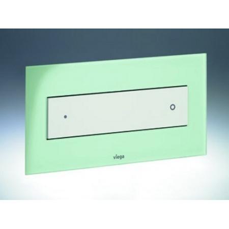 Viega Visign for Style 12 Płytka uruchamiająca do WC, szkło przejrzyste/mięta 8332.4 / 645 175