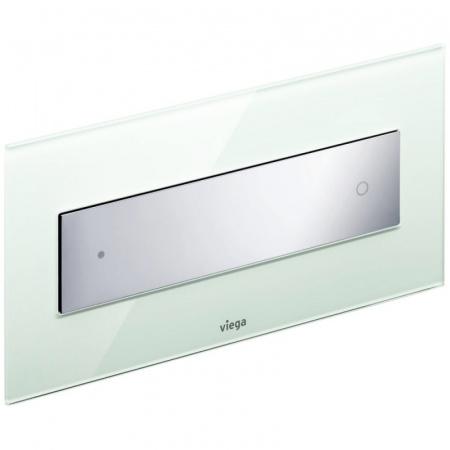 Viega Visign for Style 12 Płytka uruchamiająca do WC, szkło przejrzyste miętowe/biały alpejski 8332.1 / 690 649