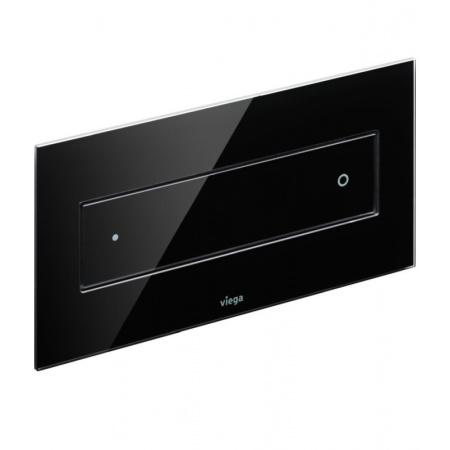 Viega Visign for Style 12 Przycisk spłukujący WC, szkło barwione/czarny 8332.1 / 687 861