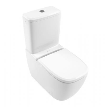 Villeroy & Boch Antheus Toaleta WC kompaktowa 37,5,5x70 cm DirectFlush bez kołnierza, biała Stone White z powłoką CeramicPlus 5616R0RW