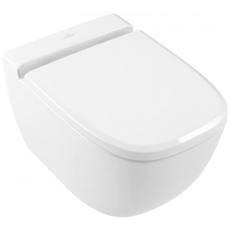 Villeroy & Boch Antheus Toaleta WC podwieszana 37,5x56 cm DirectFlush bez kołnierza, biała Stone White z powłoką CeramicPlus 4608R0RW