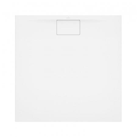 Villeroy & Boch Architectura MetalRim Brodzik kwadratowy 80x80x1,5 cm z akrylu, z powierzchnią antypoślizgową, biały Weiss Alpin UDA8080ARA115GV-01