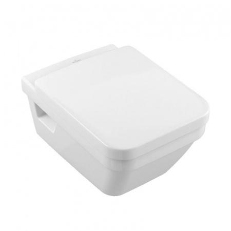 Villeroy & Boch Architectura Toaleta WC podwieszana 37x53 cm, lejowa, bez kołnierza wewnętrznego, z powłoką CeramicPlus, biała Weiss Alpin 5685R0R1
