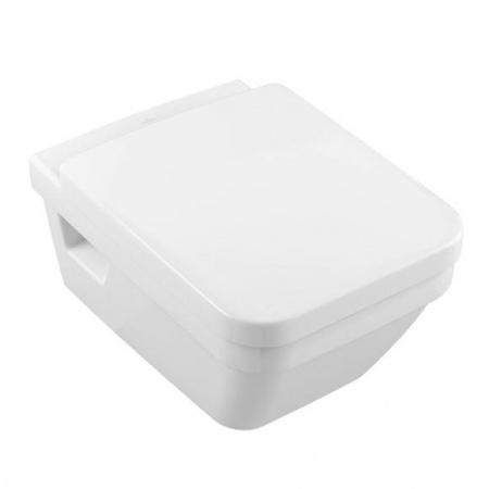 Villeroy & Boch Architectura Toaleta WC podwieszana 37x53 cm, lejowa, z powłoką CeramicPlus, biała Weiss Alpin 568510R1