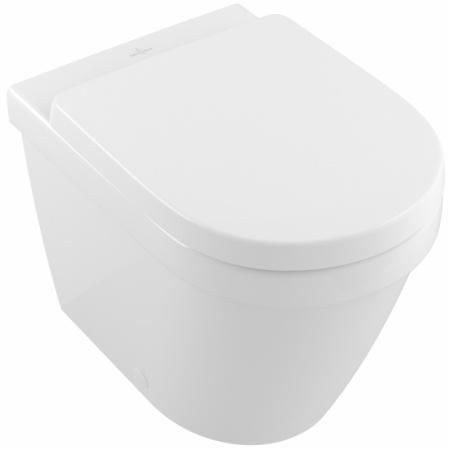 Villeroy & Boch Architectura Toaleta WC stojąca 37x54 cm lejowa DirectFlush bez kołnierza wewnętrznego, z powłoką CeramicPlus, biała Weiss Alpin 5690R0R1