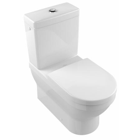 Villeroy & Boch Architectura Toaleta WC stojąca kompaktowa 37x70 cm lejowa, z powłoką CeramicPlus, biała Weiss Alpin 568610R1