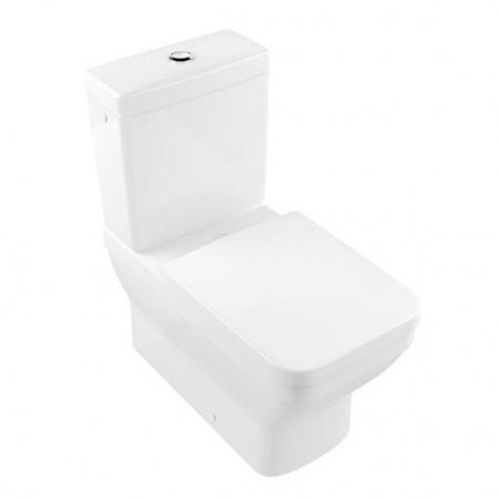 Villeroy & Boch Architectura Toaleta WC stojąca kompaktowa 37x70 cm lejowa z powłoką AntiBac, biała Weiss Alpin 568710T1