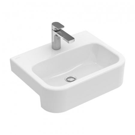 Villeroy & Boch Architectura Umywalka półblatowa 55x43 cm bez przelewu, biała Weiss Alpin 41905601