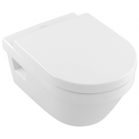 Villeroy & Boch Architectura Zestaw Combi-Pack Toaleta WC podwieszana DirectFlush CeramicPlus z deską sedesową wolnoopadającą, biały Weiss Alpin 5684HRR1