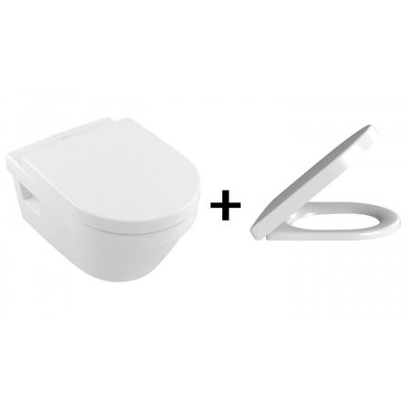 Villeroy & Boch Architectura Zestaw Toaleta WC podwieszana 53x37 cm DirectFlush z deską sedesową wolnoopadającą, biały 5684R001+98M9C101
