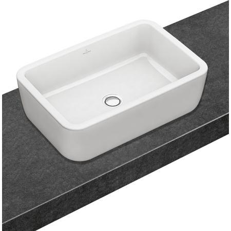 Villeroy & Boch Architectura Umywalka nablatowa 60x40 cm bez przelewu, biała Weiss Alpin 41276101