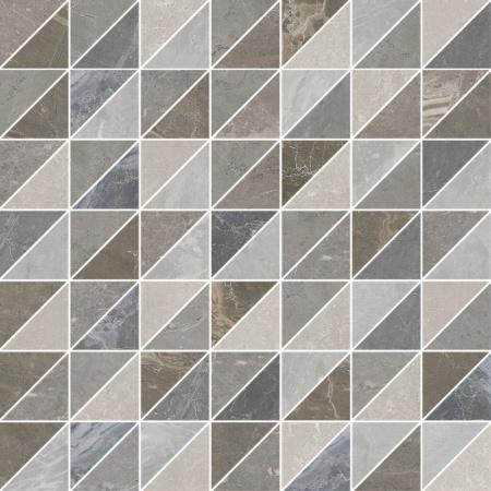 Villeroy & Boch Astoria Dekor mozaika 37,5x37,5 cm rektyfikowany  VilbostonePlus, brązowy, szary Multicolor 2910JR99