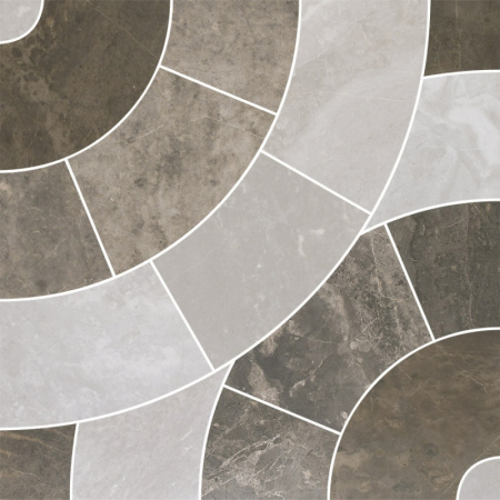 Villeroy & Boch Astoria Dekor mozaika 37,5x37,5 cm rektyfikowany  VilbostonePlus, brązowy, szary Multicolor 2911JR71