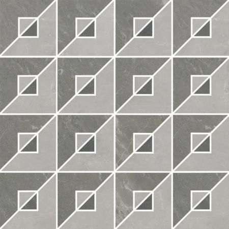Villeroy & Boch Astoria Dekor mozaika 9,25x9,25 cm rektyfikowany VilbostonePlus, odcienie szarości Multicolor 2912JR61