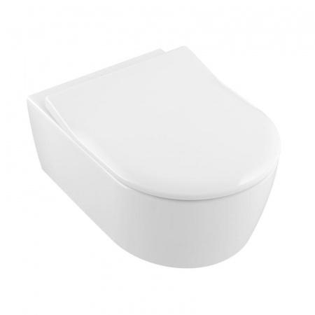 Villeroy & Boch Avento Zestaw Combi-Pack Toaleta WC podwieszana DirectFlush z powłoką CeramicPlus i deską wolnoopadającą biały Weiss Alpin 5656RSR1