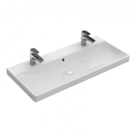 Villeroy & Boch Avento Umywalka meblowa 100x47 cm z przelewem i z powłoką CeramicPlus, biała Weiss Alpin 4156A4R1