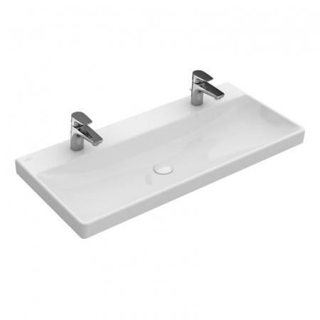Villeroy & Boch Avento Umywalka meblowa 100x47 cm bez przelewu z powłoką CeramicPlus, biała Weiss Alpin 4156A1R1