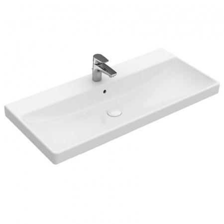 Villeroy & Boch Avento Umywalka meblowa 100x47 cm z przelewem i z powłoką CeramicPlus, biała Weiss Alpin 4156A5R1
