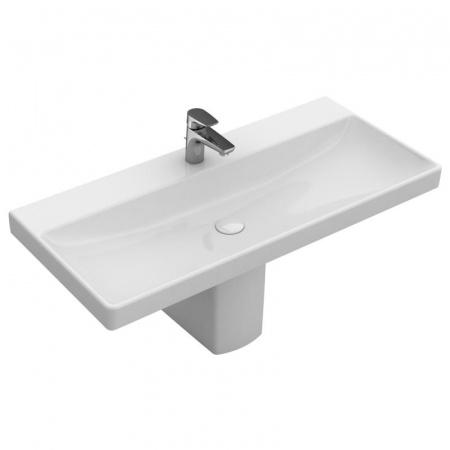 Villeroy & Boch Avento Umywalka meblowa 100x47 cm bez przelewu z powłoką CeramicPlus, biała Weiss Alpin 4156A2R1