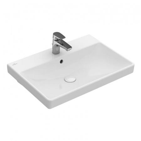 Villeroy & Boch Avento Umywalka meblowa 65x47 cm z przelewem i z powłoką CeramicPlus, biała Weiss Alpin 415865R1