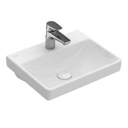 Villeroy & Boch Avento Umywalka mała nablatowa 45x37 cm bez przelewu, biała Weiss Alpin 73584601